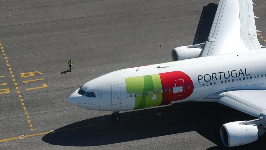 Avião da TAP; companhia aérea colocou 9000 funcionários em regime de lay-off - Divulgação/TAP