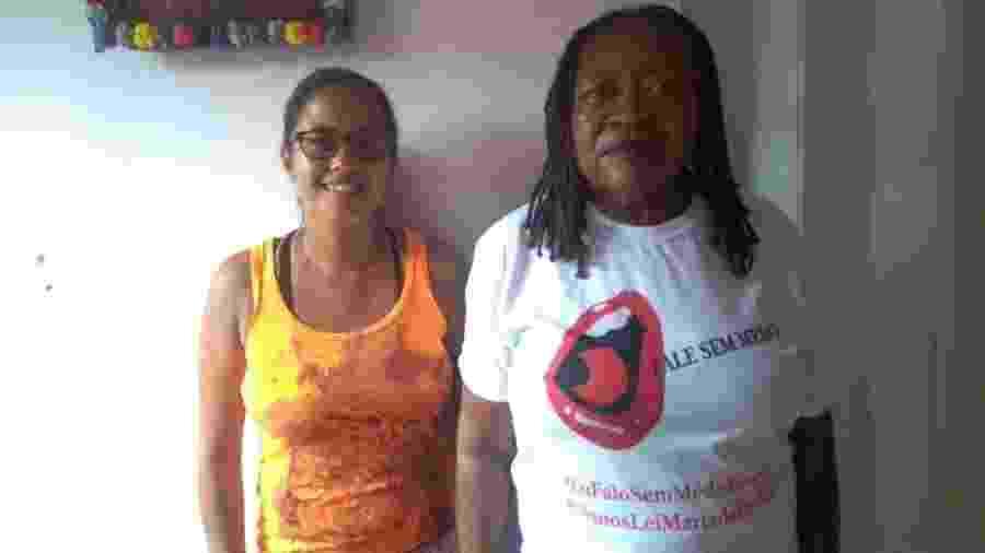 A doméstica Rosângela Conceição dos Santos e a secretária geral da Fenatrad, Cruza Maria Oliveira - Aurélio Nunes/UOL