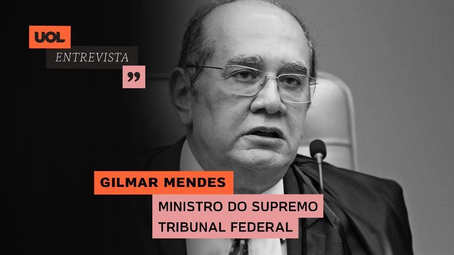 UOL Entrevista Gilmar Mendes, ministro do STF (12/02/21) - Arte/UOL