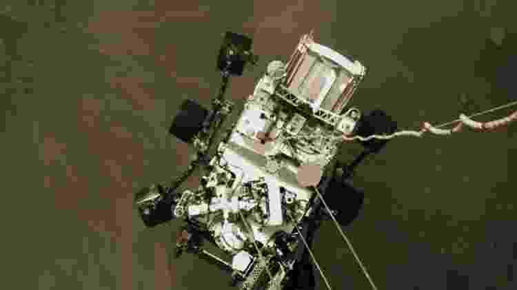 Perseverance - descida - Nasa/JPL-Caltech - Nasa/JPL-Caltech