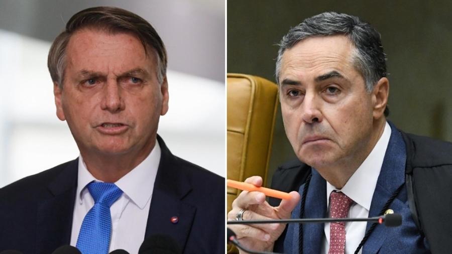 Montagem Bolsonaro e ministro Barroso - Isac Nóbrega/Presidência da República/Carlos Moura/SCO/STF