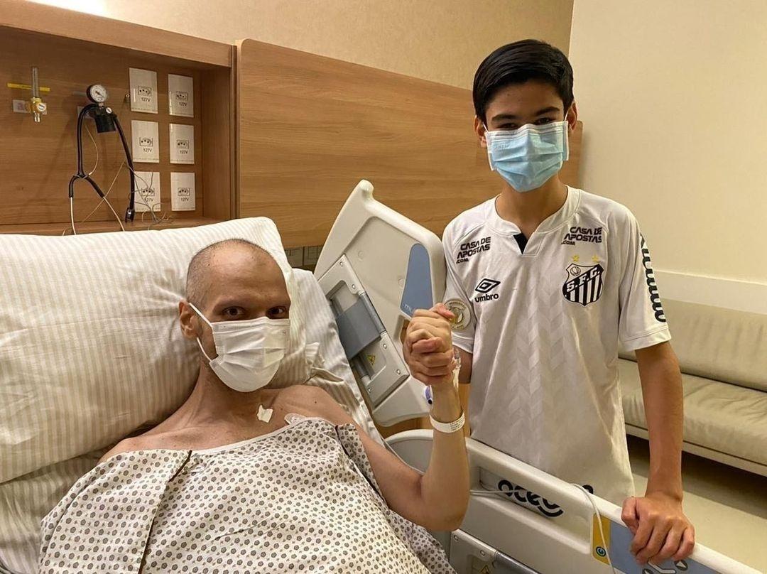 Bruno Covas con suo figlio in ospedale - Gravidanza / Instagram