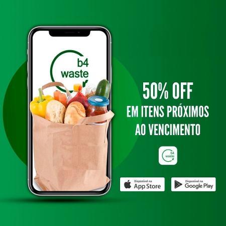 O b4waste, que une varejistas ao consumidor, oferece descontos de no mínimo 50% nos produtos - Divulgação