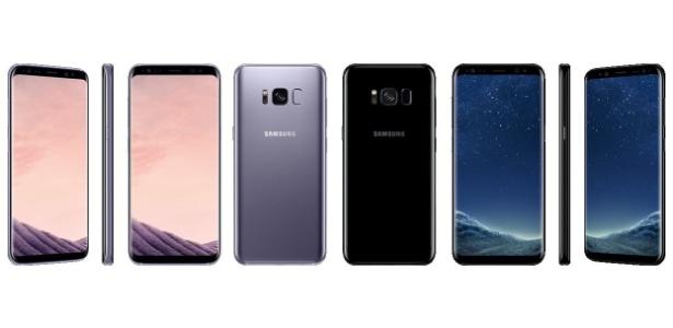 Imagem vazada do Galaxy S8 revela três cores - Reprodução/Twitter @evleaks