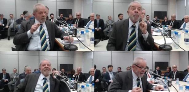 O ex-presidente Luiz Inácio Lula da Silva, em depoimento ao juiz Sergio Moro