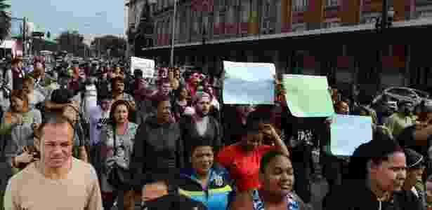 Manifestação de moradores e comerciantes da região da Luz em São Paulo contra as ações promovidas pela Prefeitura e o Governo do Estado na cracolândia - Rovena Rosa/Agência Brasil