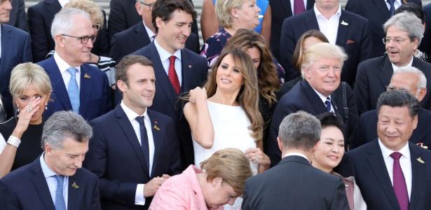 Líderes dos 20 países mais ricos do mundo e cônjuges em evento do G-20 - Reuters