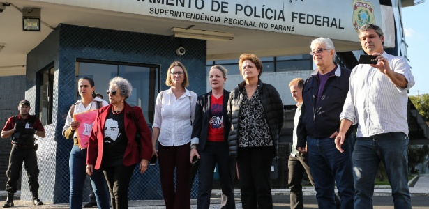 Dilma Rousseff, Gleisi Hoffman e Roberto Requião tentam visitar Lula na prisão