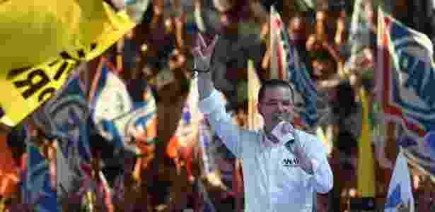 Candidato de centro-direita, Anaya segue em segundo lugar nas pesquisas - Rodrigo Arangua/AFP - Rodrigo Arangua/AFP