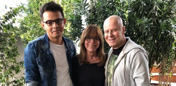 Glória Perez e Miguel Falabella transformarão história da avó de Eduardo Hanzo (à esquerda) em programa de TV