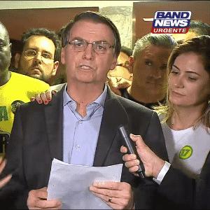Em primeiro discurso como presidente-eleito, Jair Bolsonaro (PSL), enfatiza defesa na liberdade dos brasileiros. ?Trabalharemos dia e hoje para isso? - Reprodução/Band News