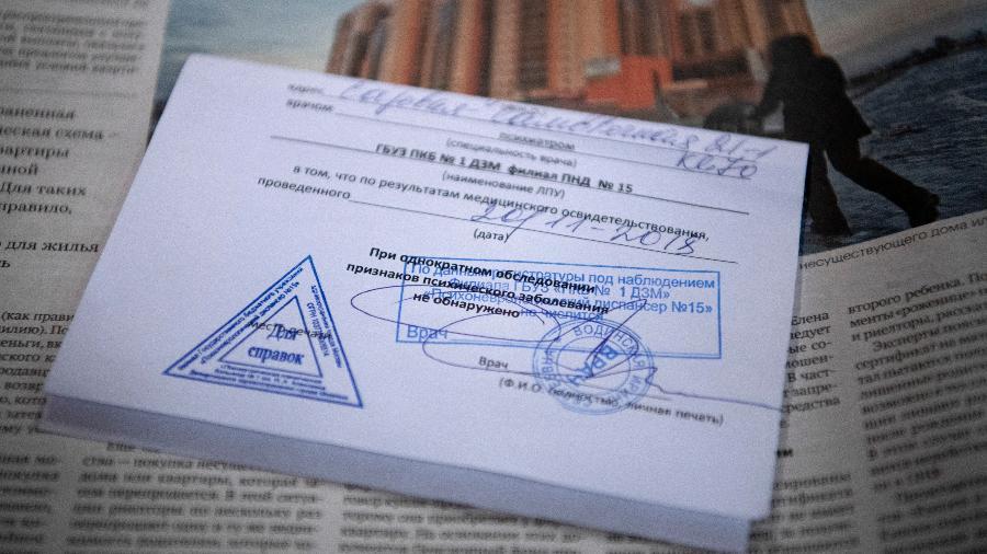 Atestado de sanidade mental necessário para a compra de um apartamento em Moscou - James Hill/The New York Times