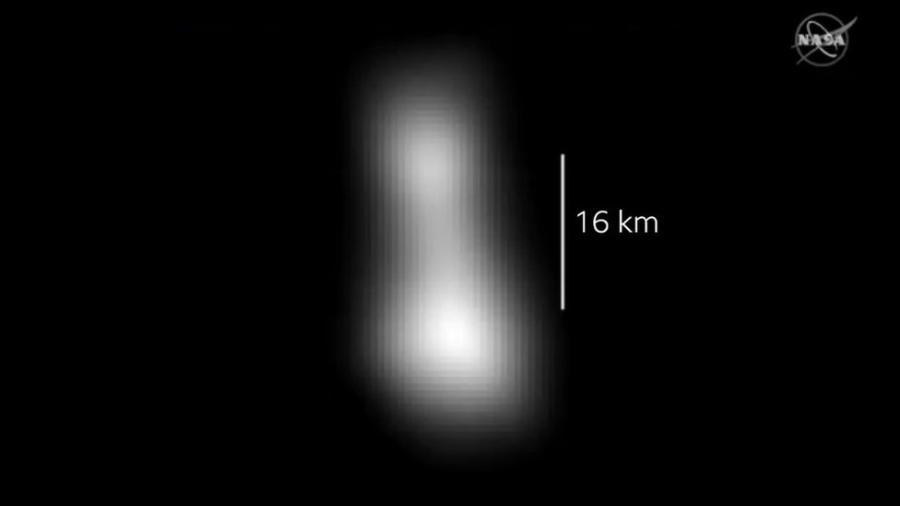 Formato da Ultima Thule, de acordo com os dados enviados pela New Horizons - Nasa