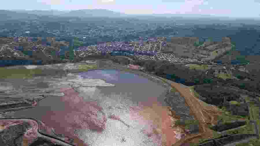 Vista aérea da Barragem Casa de Pedra da empresa CSN na cidade de Congonhas (MG) - Cristiane Mattos - 30.jan.2019/Futura Press/Estadão Conteúdo