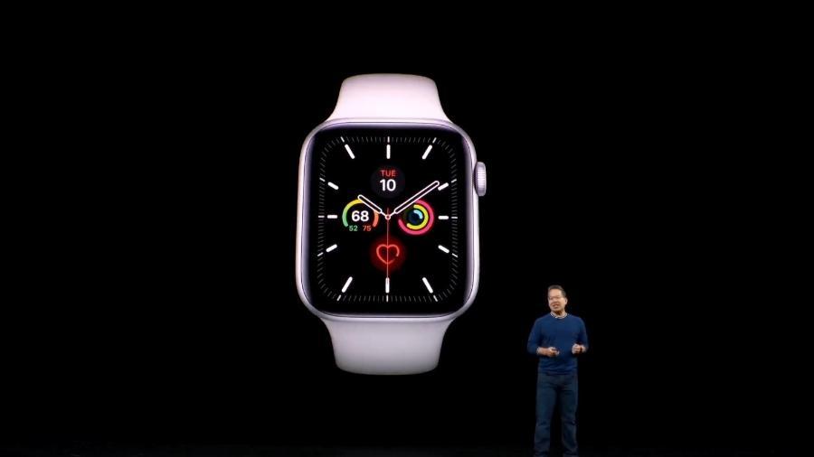 Apple Watch Series 5 é uma das grandes novidades do evento da empresa norte-americana - Reprodução