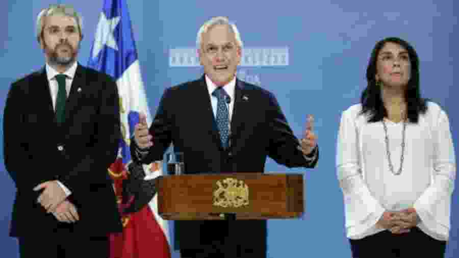 Piñera disse que sem paz não é possível avançar com a agenda de justiça social e a reforma da Constituição - Getty Images