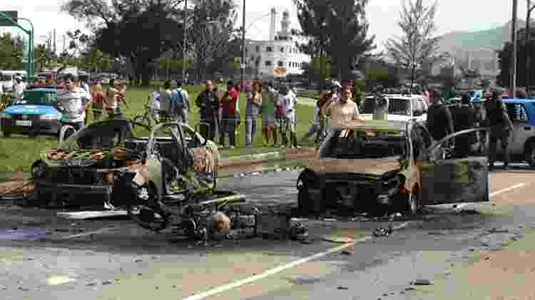 Filho do bicheiro Rogério Andrade, Diogo, de 17 anos, morre em suposto atentado na zona oeste do Rio - Gabriel de Paiva/ Agência O Globo
