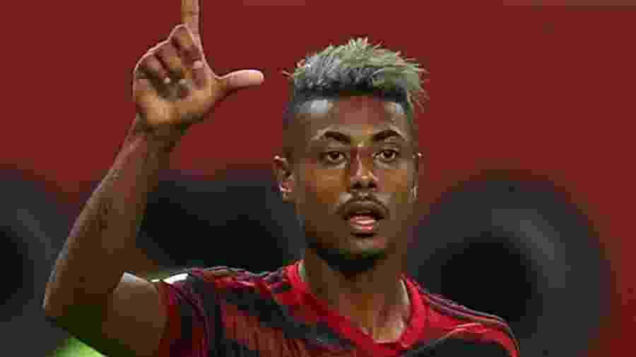 Bruno Henrique durante partid do Flamengo contra o Al Hilal pelo Mundial de Clubes em Doha -