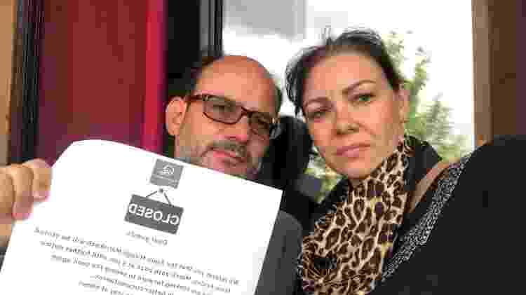 """O engenheiro Alexandre Bruno e a dentista Maria Guilhermina receberam comunicado de """"expulsão"""" do hotel, no Marrocos - Reprodução"""