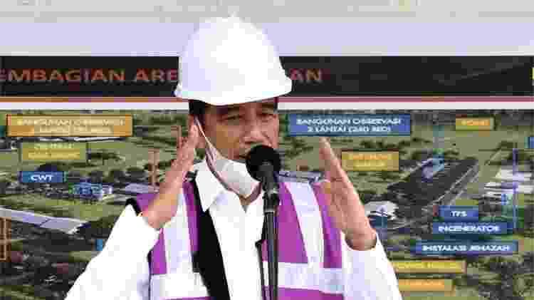 O presidente da Indonésia, Joko Widodo, admitiu que não divulgou toda a informação que tinha sobre o covid-19 no país para não gerar pânico - AFP via BBC