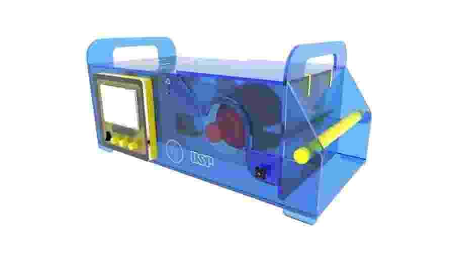 Ventilador pulmonar emergencial criado por engenheiros da USP - Divulgação/Poli
