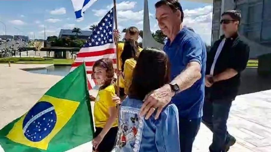 O presidente Jair Bolsonaro participa de ato em Brasília - Reprodução/Twitter