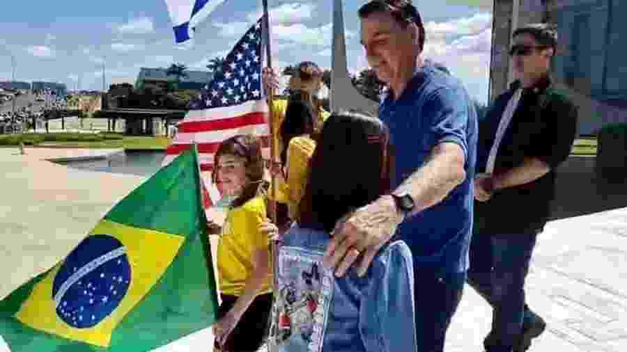 O presidente Jair Bolsonaro participou ontem (3) de ato em Brasília - Reprodução/Twitter