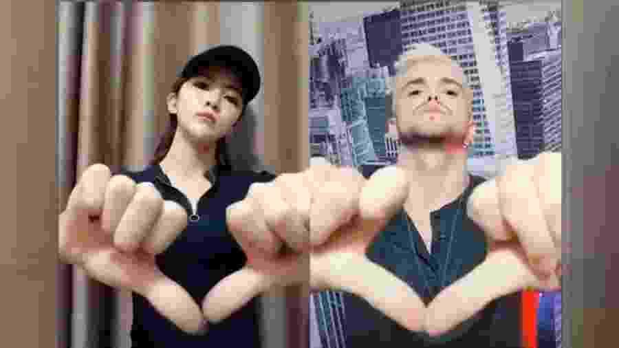 Exemplo de dueto que fez sucesso no TitkTok na China - Reprodução