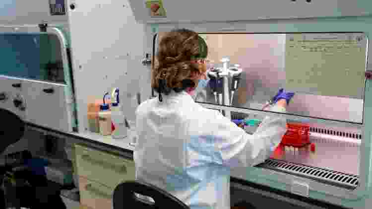 A vacina de Oxford usa uma versão atenuada de um vírus da gripe que infecta chimpanzés - Getty Images - Getty Images