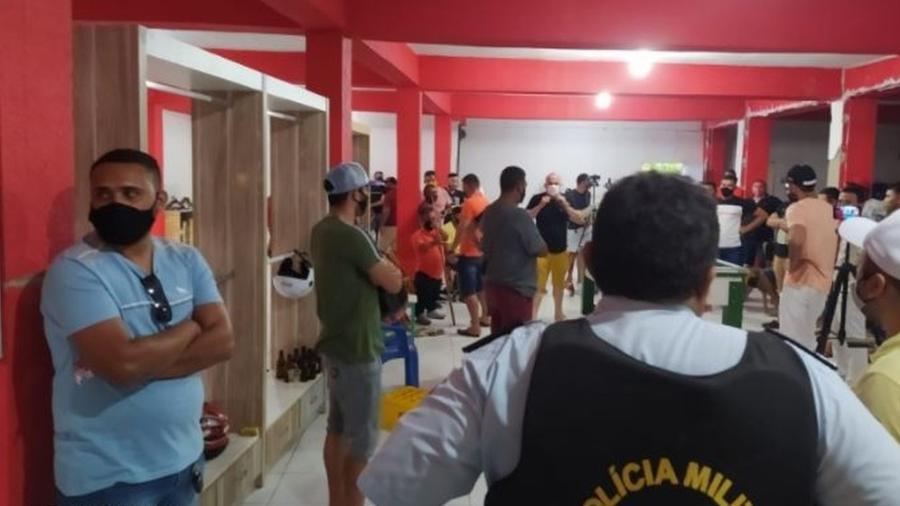 Polícia Militar encerra torneio de sinuca com aglomeração no Ceará - Divulgação