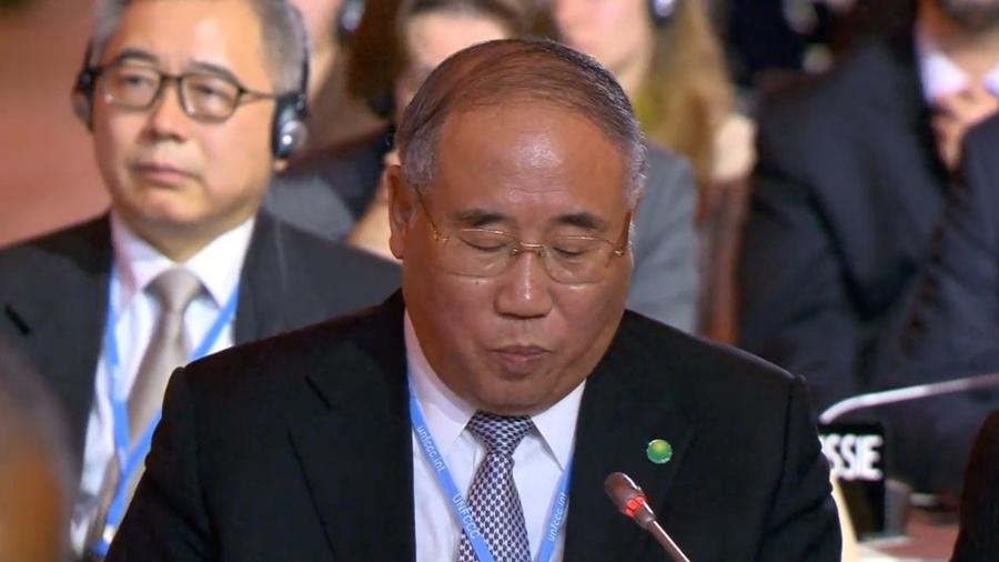 Ex-representante da China para mudanças climáticas, Xie Zhenhua agora ocupa o posto de enviado especial do clima - Reprodução