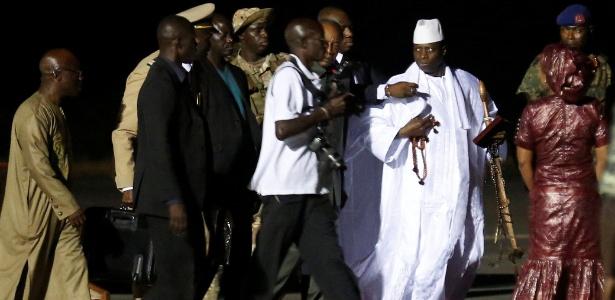 O ex-presidente gambiano Yahya Jammeh partiu neste sábado (21)