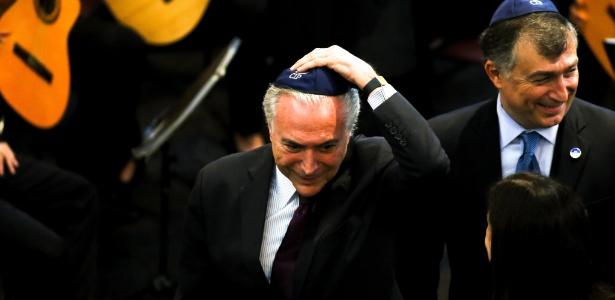 O presidente da República, Michel Temer, participou na tarde deste domingo (29) da Cerimônia do Dia Internacional em Memória das Vítimas do Holocausto, na Sinagoga da Congregação Israelita Paulista (CIP)