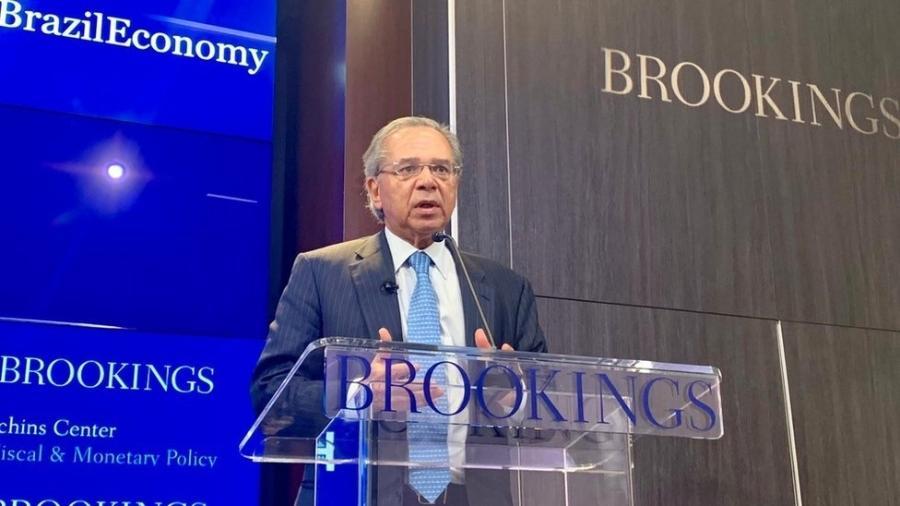 Ministro da Economia Paulo Guedes em Washington - Divulgação