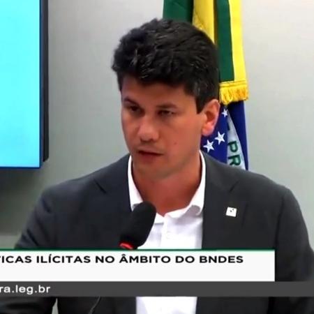 27.ago.2019 - O presidente do BNDES (Banco Nacional de Desenvolvimento Econômico e Social), Gustavo Montezano, em reunião da CPI do BNDES da Câmara - Reprodução/TV Câmara
