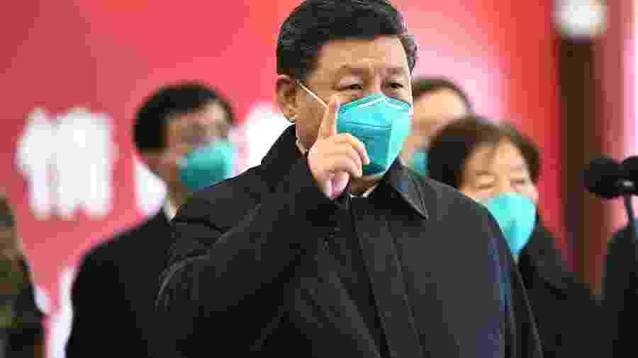 Xi Jinping, presidente da China, visita a cidade de Wuhan, epicentro do novo coronavírus - Xinhua/Xie Huanchi