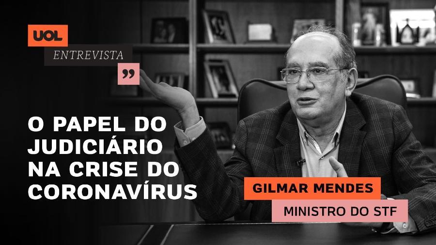 UOL Entrevista com Gilmar Mendes - Arte para chamada de UOL Entrevista - 08.04.20