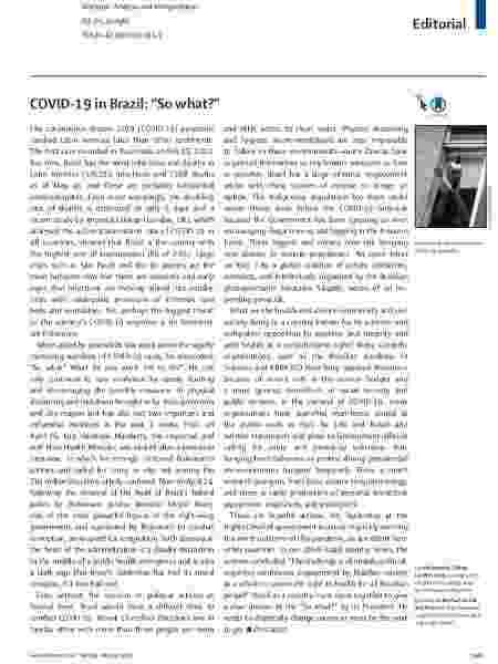 Editorial da revista The Lancet acusa Bolsonaro de ser a maior ameaça ao combate à covid-19 no Brasil - Reprodução