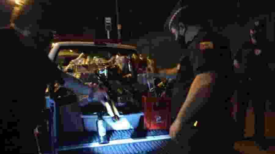 Bebidas apreendidas em festa clandestina em Sorocaba - Divulgação