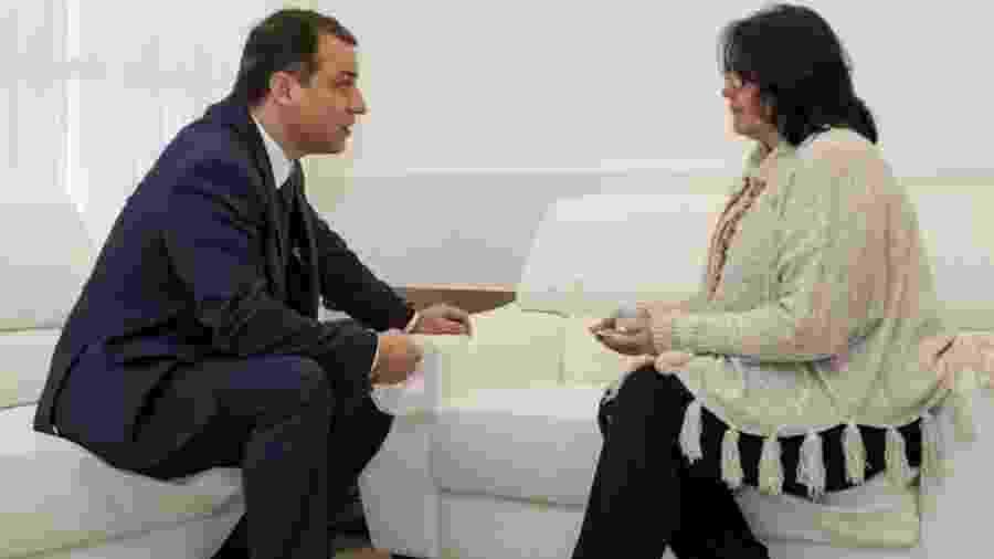 Damares em encontro com governador de Santa Catarina - Imagem/Diivulgação