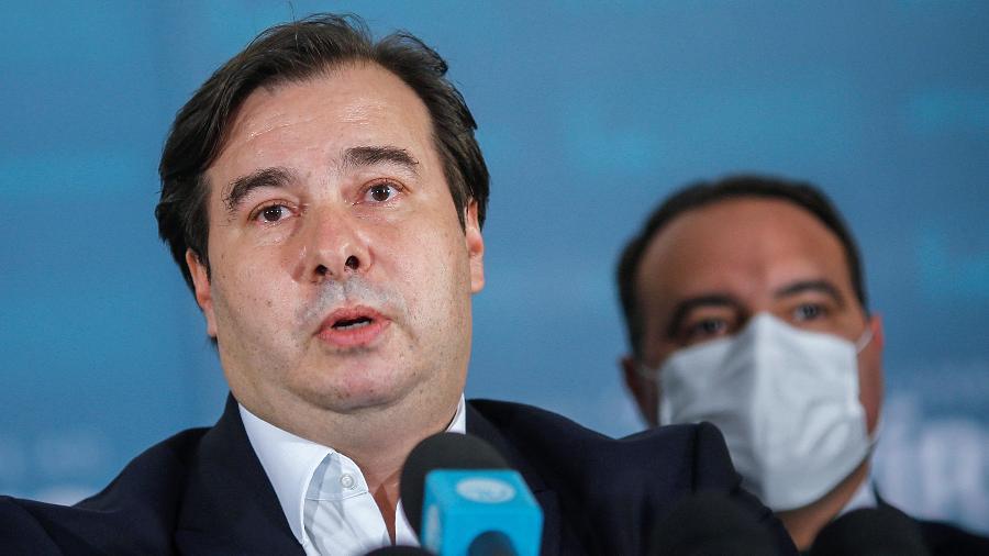 """""""É mais do que urgente que o Parlamento esteja de portas abertas [neste momento]"""", defendeu Maia - Adriano Machado/Reuters"""