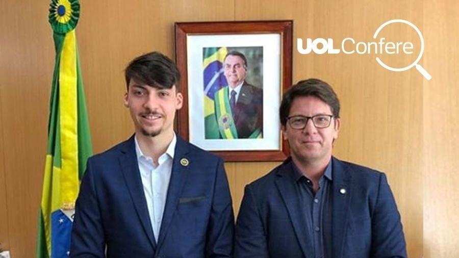 Jair Renan durante reunião com Mario Frias sobre E-sports - UOL Confere