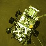 Nesta imagem, o rover Perserverance se prepara para pousar em solo marciano - Divulgação/Nasa