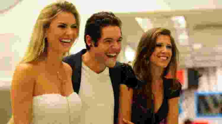 Fernanda, Nasser e Andressa no BBB 13 - Reprodução/TV Globo - Reprodução/TV Globo