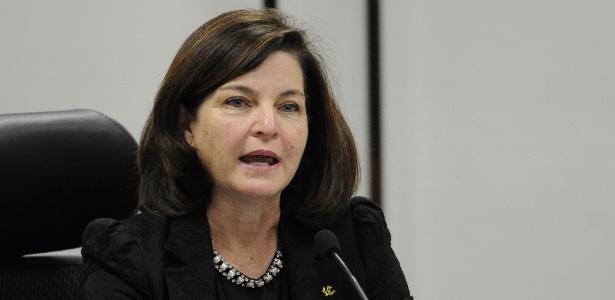 3.ago.2015 - A subprocuradora-geral da República Raquel Dodge durante debate dos candidatos ao cargo de procurador-geral da República