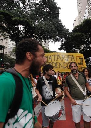 Manifestantes protestam contra o aumento da tarifa de ônibus em Belo Horizonte
