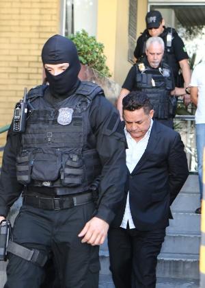 O empresário Ronan Maria Pinto, em foto de quando foi preso ano passado na 27ª fase da Operação Lava Jato