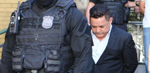 O empresário Ronan Maria Pinto, em foto de quando foi preso ano passado na 27ª fase da Operação Lava Jato - Geraldo Bubniak/Estadão Conteúdo