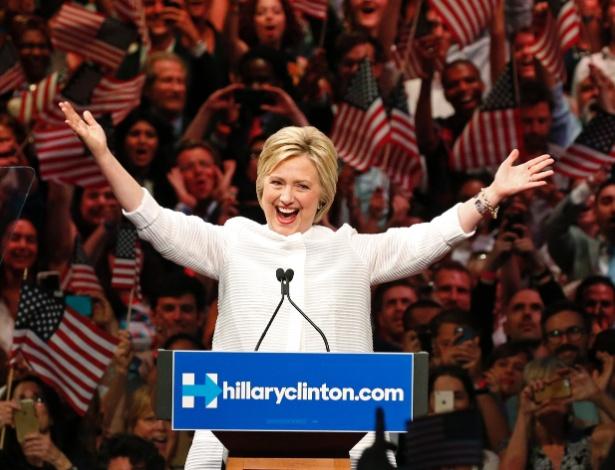 Hillary Clinton, pré-candidata democrata à Presidência dos Estados Unidos