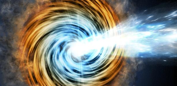 Os blazares puxam a matéria, aquecem e giram como se fosse um disco